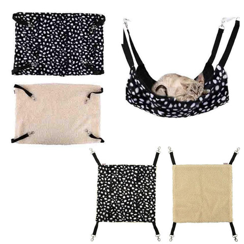 Polk Dot Polyester Rat Rabbit Chinchilla/Cat Cage Hammock Small Pet Dog Puppy Bed Cover