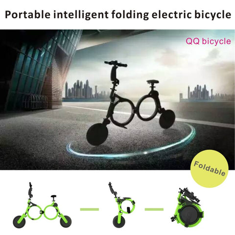 Portable intelligent folding electric bicycle, QQ bicycle .