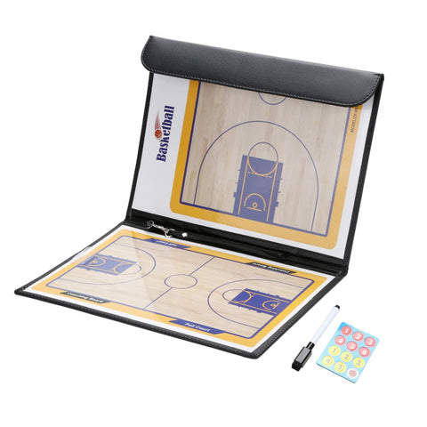 Professional Basketball Coaching Board Double-sided Coaches Clipboard Dry Erase w/marker