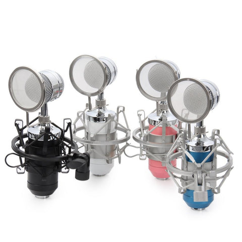 Professional Condenser Sound Recording Microphone USB Echo Function microfone with Mic