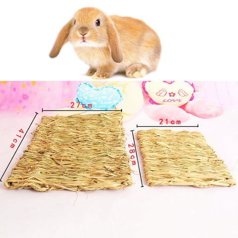 Rabbit Woven Straw Mats Small Nests Totoro Hamster Hand-knitted Soft Pads Natural Forage