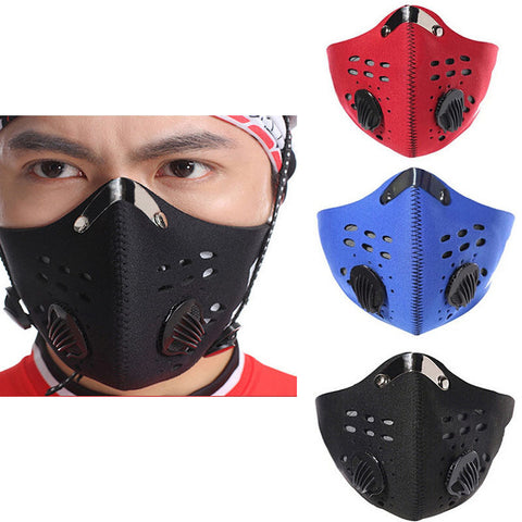 Racing Cycling Bicycle Bike Motorcycle Anti Dust Half Face Mask Filter .