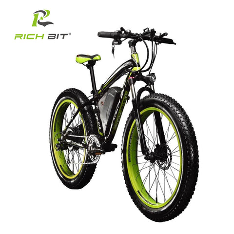 RichBit Ebike New 21 speeds Electric Fat Tire Bike 48V 1000W Lithium Battery Electric Snow