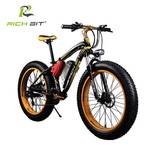 RichBit Electric Bike Powerful Fat Tire Electric Mountain Bike 48V 17AH 1000W eBike