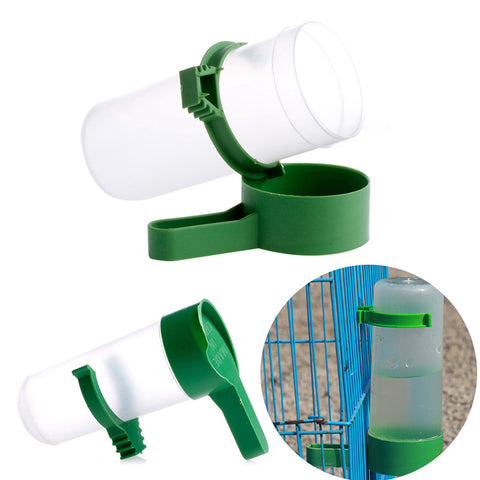 S/L Bird Drinker Food Feeder Waterer for Budgie Aviary Finches Canary Anti Algae .