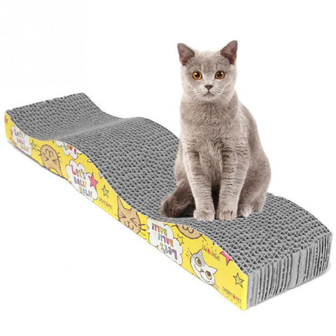 S-Shaped Cat Kitten Corrugated Scratch Board Pad Scratcher Bed Mat Claws Care juguetes