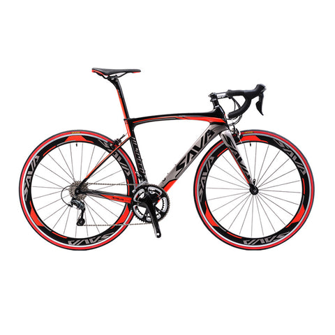 SAVA 700C Carbon Fiber Road Bike Complete Bicycle Carbon Cycling BICICLETTA Road Bike