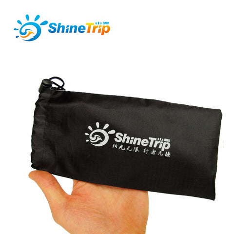 ShineTrip 23cm Tent Pegs Bag Camping Tent Accessories Hammer Wind Rope Tent Nail Storage