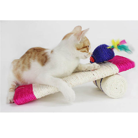 Sisal Rope Cat Toy Whole Funny Scratch Post Pets Kitty Products Cat Scratcher Toy With