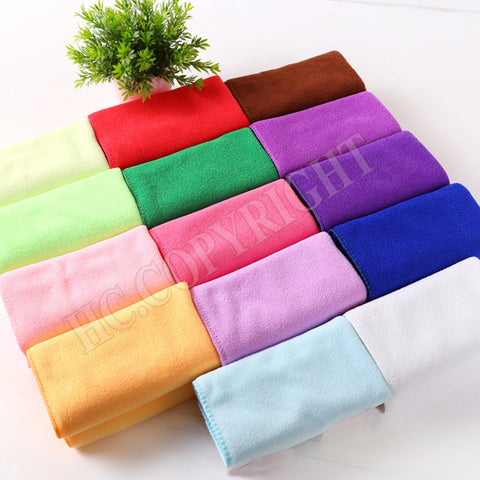 Soft Dog Towls Quick-dry Pure Color Uper Absorbing Multifunctional Pet Towel Dog Towel Dog