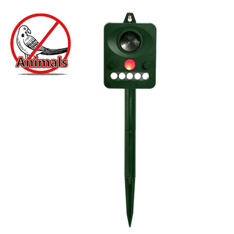 Solar Power Outdoor Ultrasonic Dog Cat Repeller Infrared Sensor Animal Birds Chaser