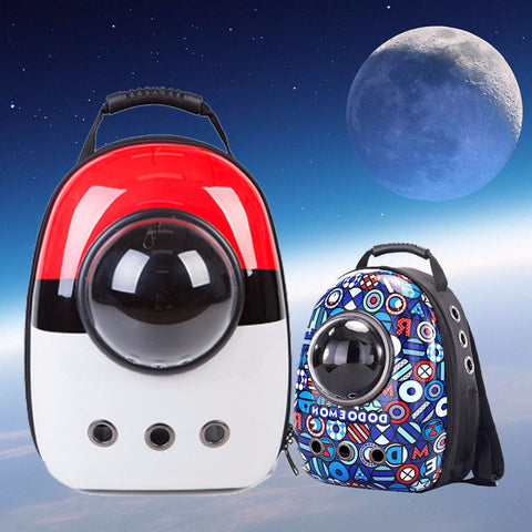 Space Capsule Astronaut Pet Cat Backpack Bubble Window for Kitty Puppy Chihuahua Small Dog
