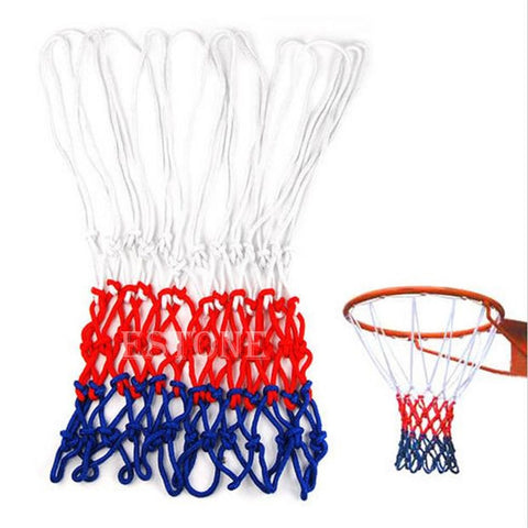 Standard Durable Nylon Basketball Goal Hoop Net Netting Red/White/Blue Sports #Q39E# .