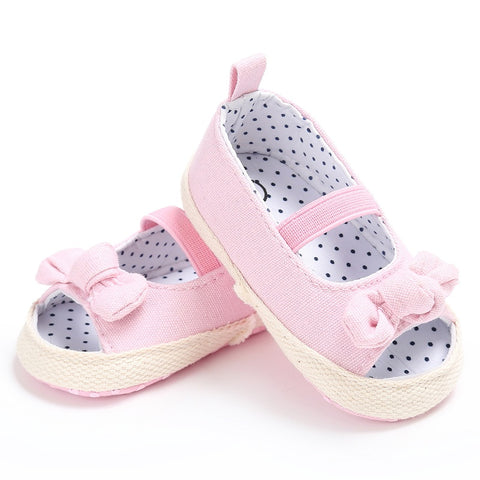 Summer Autumn Baby Solid Color Non-slip Sandals Cute Baby Lace Sandals Kids Baby Girls