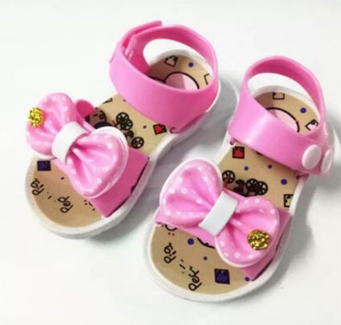 Summer Children Sandals Girls Jelly Shoes With Butterfly Flowers Jelly Shoes Kids Baby