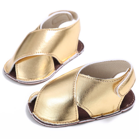 Summer Children Sandals Kids Girls Sandals Summer Boys Girl Gold Leather Sandals Shoes .
