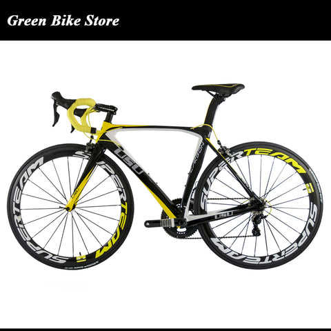 Superteam 6800 groupset carbon road bicycle OEM complete carbon bicycle 7kg carbon road