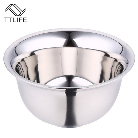 TTLIFE Thickening Stainless Steel Dinner Double Layer Heat Insulation Bowl Kitchen