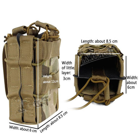 Tactical Molle Vest Bag Airsoft 5.56 Magazine Pouch 1000D for Military Outdoor Hunting