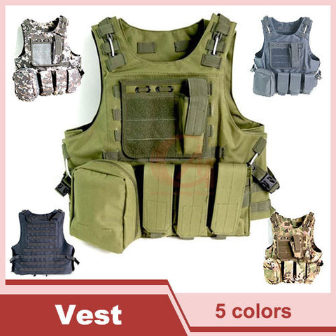Tactical Vest Molle Combat Strike Plate Carrier Vest Steel Wire Vest Outdoor Military