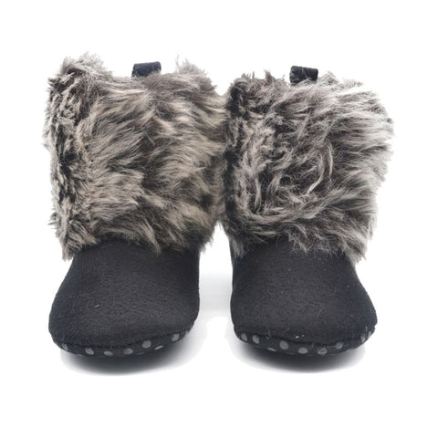Boots for Girls Toddler Baby Fleece Snow Boots Infant Kids Wool Fur Winter Shoes 0-18M .