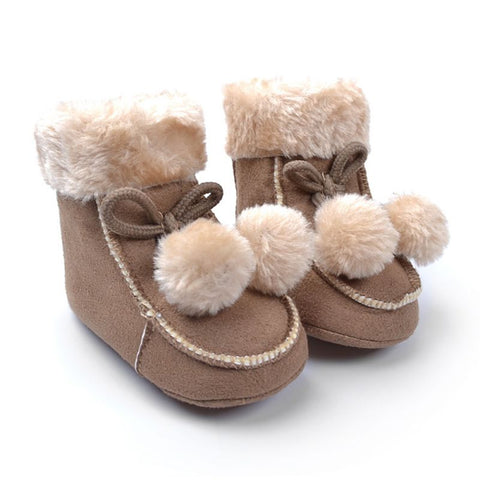 Boots for Girls Toddler Baby Girl Shoes Pompont Shoes Fleece Snow Boots Winter Warm Booties .