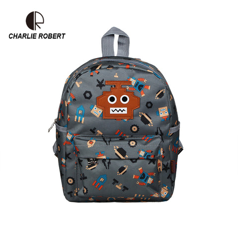 Toddler Robot Backpack For Boys School Backpack For 1-3 Years Kids Cute Cartoon Robot