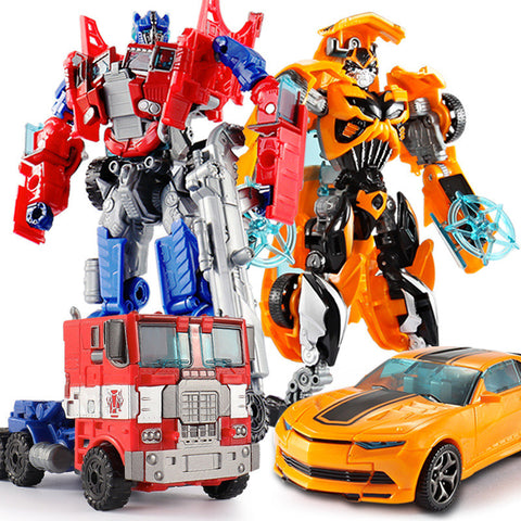 Top Sale 18.5cm New Arrival Big Classic Transformation Plastic Robot Cars Action Toy
