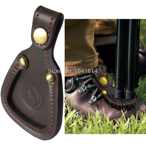 Tourbon Shooting Leather Toe Protector Pad Shooting Clay Hunting Barrel Rest Trap Game
