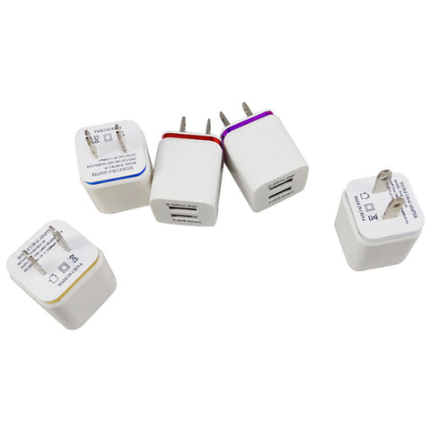 US plug Adapter 2.1/1A 5V Dual USB US Wall Charger AC Mobile phone charger for Samsung all