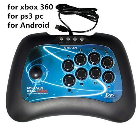 USB Game Joystick for PC xbox 360 PS3/PlayStation 3 Android wired game controller Light