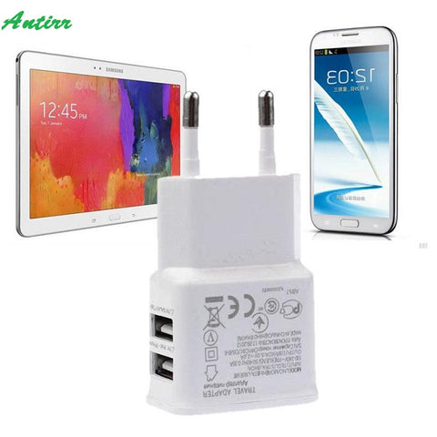 Universal 12W 2.1A 50-60HZ.2 Ports USB Travel Charger Power Adapter EU plug for Galaxy Tab