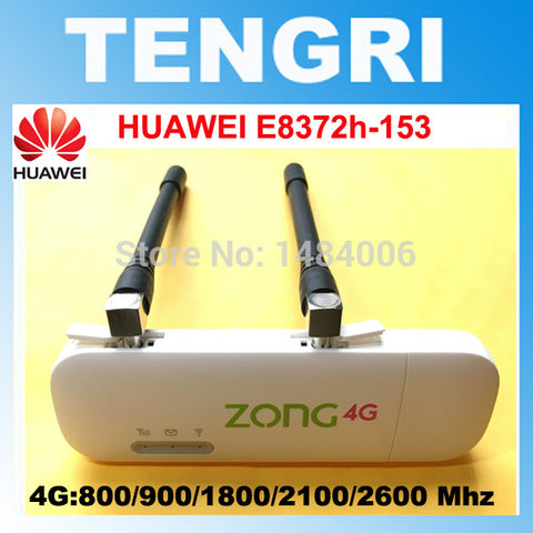 Unlocked Huawei E8372 E8372h-153 ( plus a pair of antenna) 150M LTE USB Wingle LTE