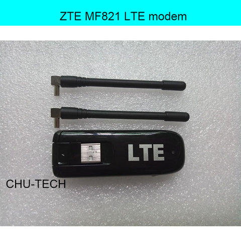 Unlocked ZTE MF821 with antenna 100Mbps 4G LTE Mobile Broadband Modem .