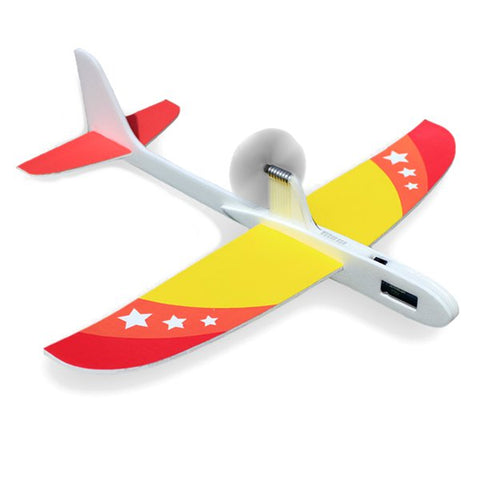 Upgraded Super Capacitor Electric Hand Throwing -flying Glider DIY Airplane Model .
