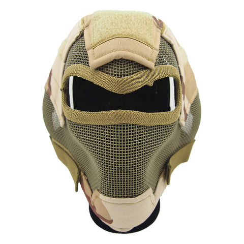V7 ultimate steel wire mesh mask hunting tactical protective airsoft mask GZ90054 .