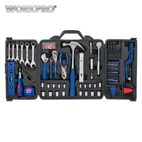 WORKPRO 201PC Mechanic Tool Set Daily Use Tools Sockets Screwdrivers Pliers Wrenches