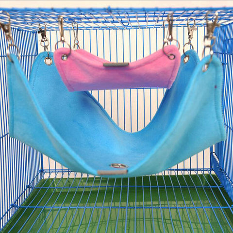 Warm Plush Cloth Hamster Chinchilla Hammock Guinea Pig Rabbit Hanging Bed Cage Accessories