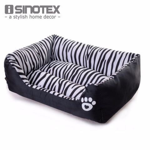 Waterproof Pet Bed Zebra Patterns Sweety Dog House Moistureproof Keep Clean Pets Bed