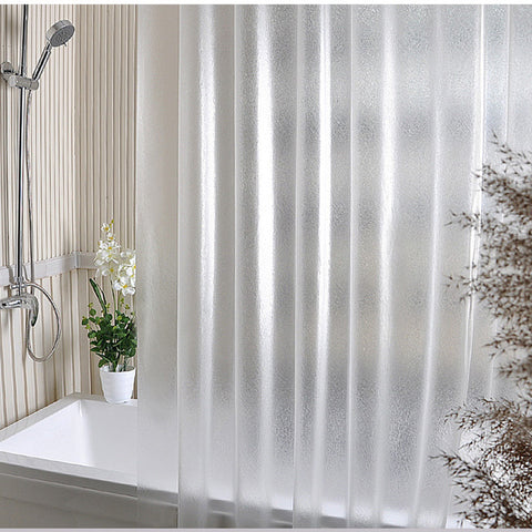 Waterproof Transparent Clear White Shower Curtain 100% PEVA Bath Shower Bathroom Use