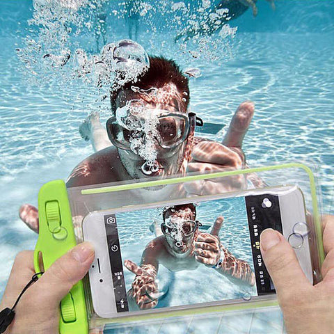 Waterproof soft clear PVC phone pouch bags case for samsung galaxy s8 J5 J7 J3 A3 A5 A7