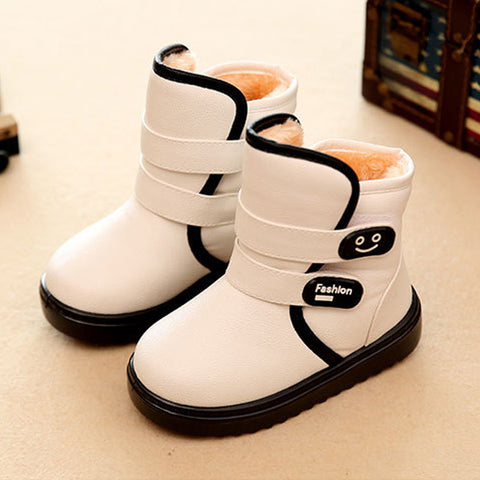 Boots for Girls Winter Children'S Snow Boots Shoes Kids Girls/Boys Waterproof Warm Cotton Boots Plush