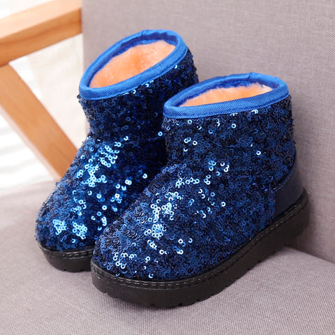 Boots for Girls Winter Warmer Baby Shoes Boys Girls Boots Children Snow Boots Cotton Lined Kids Soft Ankle