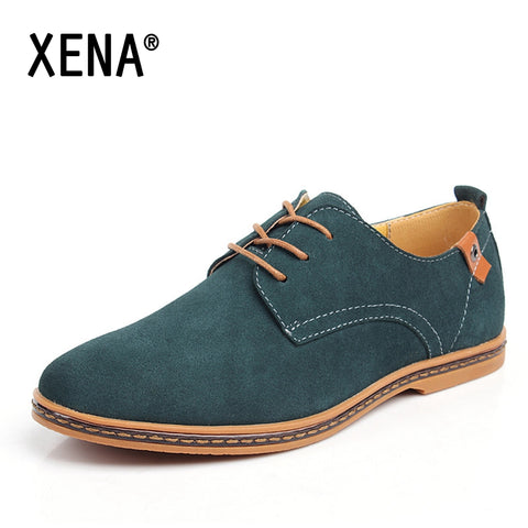 XENA Plus Size Men Shoes Casual Oxford Leather Flats Casual Shoes Boots Warm Men's Big