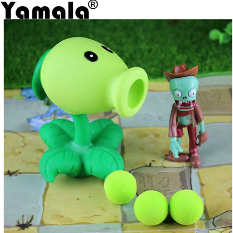 [Yamala] PVZ Plants vs Zombies Peashooter PVC Action Figure Model Toy Gifts Toys