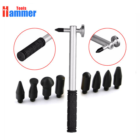adjustable PDR Repair Tools Set Tap Down 9Heads Rubber Hammer Paintless Dent Tool