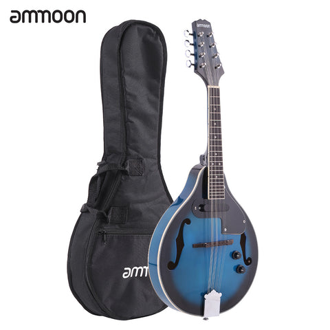 ammoon A-Style Electric Mandolin Basswood Body Rosewood Bridge Fingerboard 8 Strings