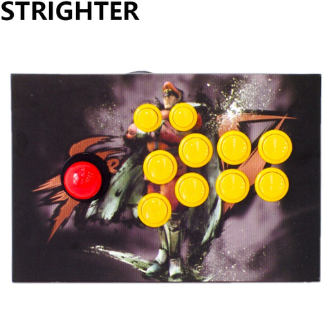 arcade joystick 10 buttons pc controller computer game King of fighters Joystick
