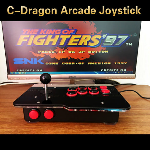 arcade joystick USB rocker arcade stick Street Fighter PC computer led KOF 97 rocker