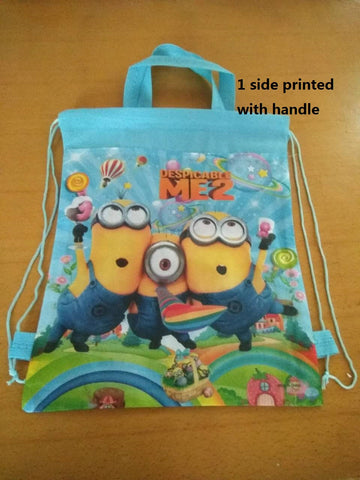 children's backpack minion cat minion Backpack School Bag , waterproof shoe bags for
